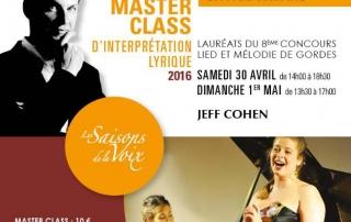 affiche master class 30 avril et 1er mai 2016 - les saisons de la voix